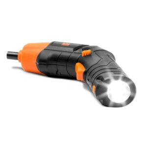 WEN 4-Volt Max Lithium Ion Rechargeable Cordless Electric Screwdriver and Flashlight with Carrying Case and 40+ Accessories