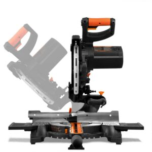 WEN 15 Amp 10 in. Single Bevel Compact Sliding Compound Miter Saw with Laser