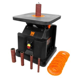 WEN 3.5 Amp Oscillating Spindle Sander with Extra Large Beveling Table Top
