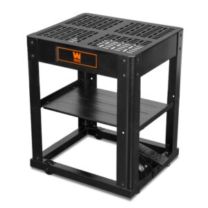 WEN Multi-Purpose Planer Stand with Storage Shelf and Rolling Base