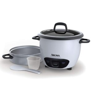 AROMA Pot-Style 6-Cup White Rice Cooker