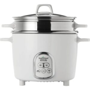 AROMA NutriWare Digital Pot Style 7-Cup Rice Cooker with Glass Lid and Non-Stick Pot