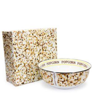 Golden Rabbit Popcorn 4.5 qt. Enamelware Popcorn Bowl with Gift Box
