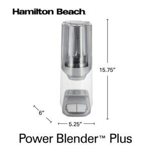 Hamilton Beach Power Blender Plus 20 oz. 2-Speed Gray Blender with Leak Proof Flip-Top Lid