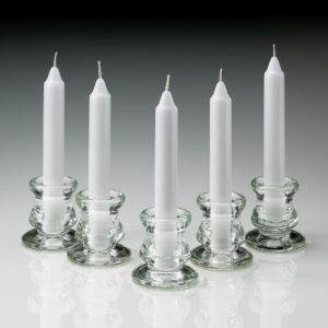 Light In The Dark 6 in. Tall 3/4 in. Thick Unscented White Taper Candles (Set of 80)
