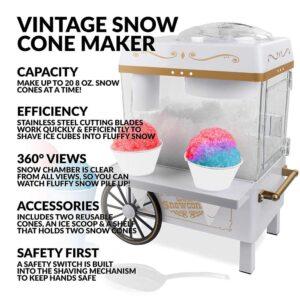 Nostalgia 160 oz. Snow Cone Maker in White with Reusable Cones