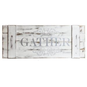 Pinnacle Gather Wood Plank Decorative Sign