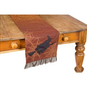 Xia Home Fashions 0.2 in. H x 13 in. W x 36 in. D Witching Hour Halloween Table Runner