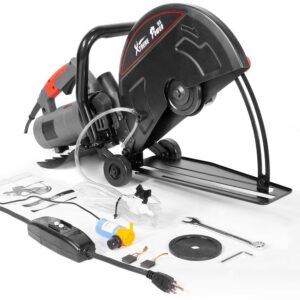 XtremepowerUS 14 in. 15 Amp Portable Corded Circular Cut Concrete Saw