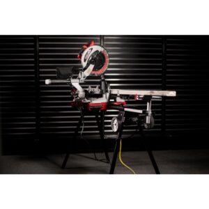 XtremepowerUS 15 Amp 12 in. 4,000 RPM Corded Single-Bevel Sliding Compound Miter Saw