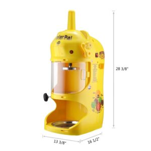 Great Northern Polar Pal 32 oz. Yellow Electric Ice Shaver and Snow Cone Machine