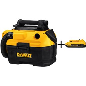 DEWALT 2 Gal. Cordless/Corded Wet/Dry Vacuum (Tool-Only) with 2Ah XR Battery Pack
